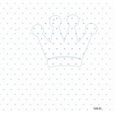 1105-03 Yıldızlı Tac Desenli Duvar Kağıdı 10 m2