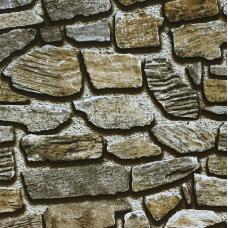 17301 3D Koyu Gri Kaya Taşı Desenli Duvar Kağıdı