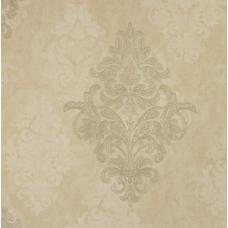 18157 Bej Eskitme Damask Desenli Duvar Kağıdı