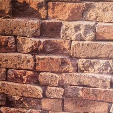 9211 3D Eskitme Tuğla Ateş Duvar Kağıdı