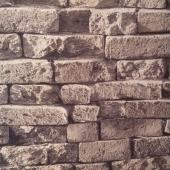 9213 3D Eskitme Tuğla Siyah Simli Duvar Kağıdı
